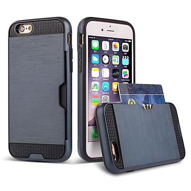 hoge kwaliteit snap-on PC + silicone plaatst u de kaart hybride combo armor case cover voor iPhone 6 plus
