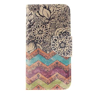 Para Samsung Galaxy Capinhas Carteira / Porta-Cartão / Com Suporte / Flip Capinha Corpo Inteiro Capinha Linhas / Ondas Couro PU SamsungS6