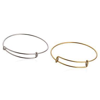 Homens Mulheres Bracelete - Formato Circular Prata Dourado Pulseiras Para Diário Casual