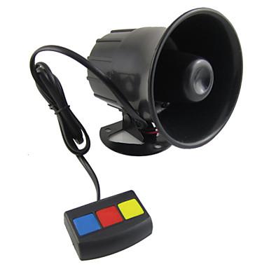 sKleur baru yang universele 3 alarmtoon mobil keamanan keras sirene Tanduk 12 V DC panas