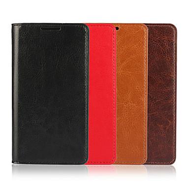 tok Για Sony Z5 Sony Xperia Z5 Θήκη Sony Θήκη καρτών Πορτοφόλι με βάση στήριξης Ανοιγόμενη Πλήρης Θήκη Συμπαγές Χρώμα Σκληρή γνήσιο δέρμα