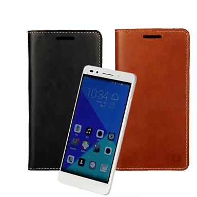 tok Για Huawei Honor 7 Huawei Θήκη Huawei Θήκη καρτών Πορτοφόλι με βάση στήριξης Ανοιγόμενη Πλήρης Θήκη Συμπαγές Χρώμα Σκληρή PU δέρμα για