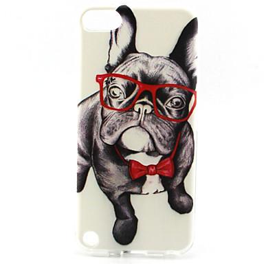 γυαλιά στυλ ζωγραφικής σκυλιών tpu μαλακή θήκη για iPod touch 5 ipod περιπτώσεις / καλύμματα