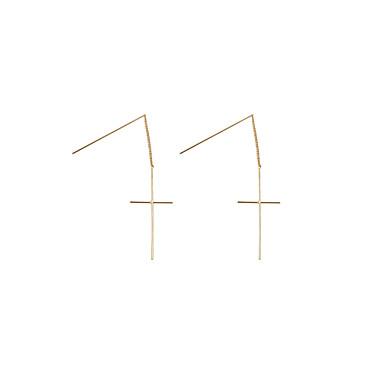 Druppel oorbellen Koper Kruisvorm Zilver Gouden Sieraden Voor Bruiloft Feest Dagelijks Causaal Sport 2 stuks