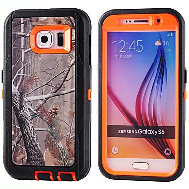 PC + TPU bolsas impermeáveis camuflagem filial caso à prova de choque build-in protetor de tela para Samsung Galaxy S6 / S5 / S4 / S3