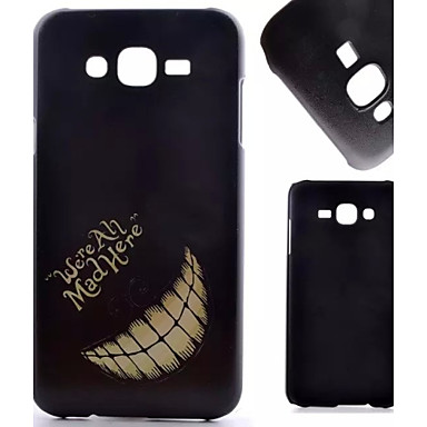 Voor Samsung Galaxy hoesje Hoesje cover Patroon Achterkantje hoesje Zwart & Wit PC voor Samsung Galaxy J7 J5