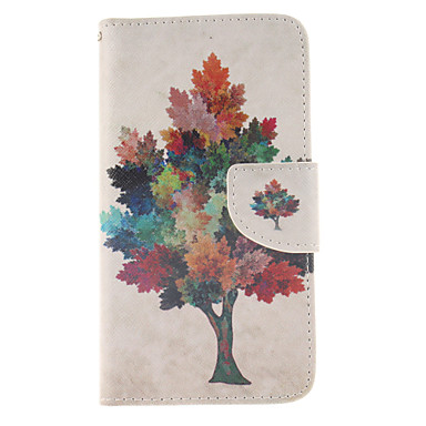 tok Για Samsung Galaxy Samsung Galaxy Θήκη Θήκη καρτών Πορτοφόλι με βάση στήριξης Ανοιγόμενη Πλήρης Θήκη Δέντρο PU δέρμα για Grand Prime