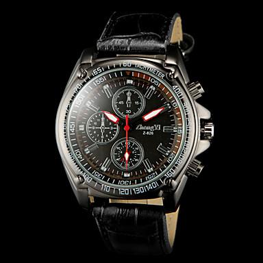 Masculino Relógio de Pulso Quartzo PU Banda Preta Preto Vermelho