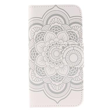 Για Samsung Galaxy Θήκη Πορτοφόλι / Θήκη καρτών / με βάση στήριξης / Ανοιγόμενη tok Πλήρης κάλυψη tok Λουλούδι Συνθετικό δέρμα Samsung S6