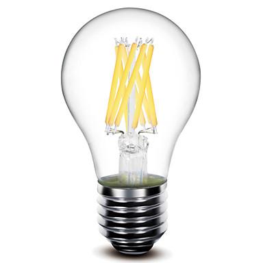 E26/E27 Lâmpadas de Filamento de LED A60(A19) 8 leds COB Decorativa Branco Quente 800lm 2700K AC 220-240V