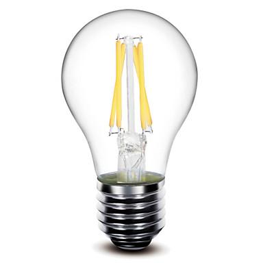 1pc 400 lm E26/E27 LED Filament Bulbs A60(A19) 4 leds COB Dimmable Warm White AC 220-240V