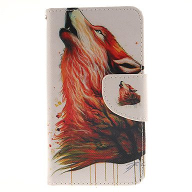 Capinha Para Sony Xperia Z5 Compact Sony Capinha Sony Porta-Cartão Carteira Com Suporte Flip Capa Proteção Completa Animal Rígida PU