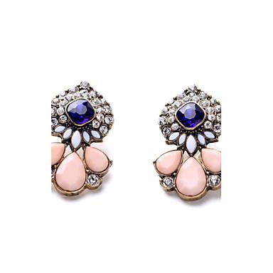 Γυναικεία Κουμπωτά Σκουλαρίκια Κοσμήματα Μοναδικό Φλοράλ Βοημία Style Κρύσταλλο Ρητίνη Κράμα Κοσμήματα ΓιαΠάρτι Ειδική Περίσταση