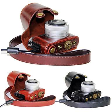 パナソニックGM5のGM2のルミックスgm1s用ショルダーストラップ(アソートカラー)とdengpin®PUレザーカメラケースバッグカバー