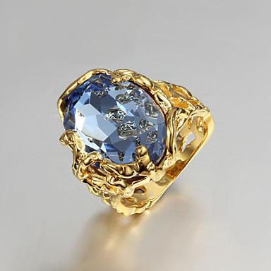 Dames Bandring Gouden Zirkonia Verguld Bruiloft Feest Dagelijks Causaal Kostuum juwelen