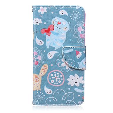 Para Samsung Galaxy Capinhas Case Tampa Porta-Cartão Carteira Com Suporte Flip Estampada Corpo Inteiro Capinha Desenho Animado Couro