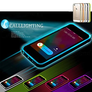 Capinha Para iPhone 5 Apple Capinha iPhone 5 Luz de LED Transparente Capa traseira Côr Sólida Macia TPU para iPhone SE/5s iPhone 5