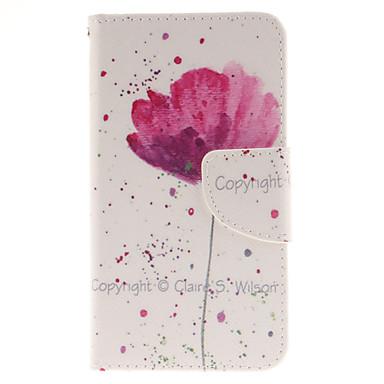 teste padrão de flor-de-rosa couro pu capa de corpo inteiro com estande para Sony Xperia z5 compacto