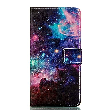 sterrenhemel patroon kaart staan lederen tas voor Samsung Galaxy j1 / j5