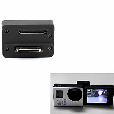 LCD-scherm Beschermend Doosje Lensdop LCD-scherm Adapter Knoop Bevestiging Geschikt Voor Actiecamera Gopro 5 Gopro 4 Gopro 4 Silver Gopro