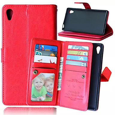 Case For Sony Xperia Z5 Sony Xperia Z5 Sony Case Card Holder Wallet with Stand Flip Full Body Cases Solid Color Hard PU Leather for Sony