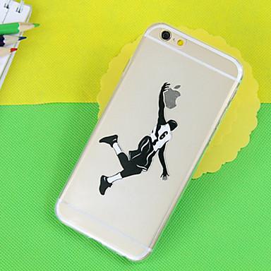 basketbal patroon TPU transparante zacht telefoon Case voor iPhone 6 / 6s