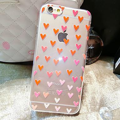 Capinha Para Apple iPhone 6 iPhone 6 Plus Transparente Estampada Capa traseira Coração Macia TPU para iPhone 6s Plus iPhone 6s iPhone 6
