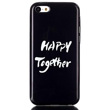 Voor Hoesje cover Achterkantje hoesje Zacht TPU voor iPhone 5c