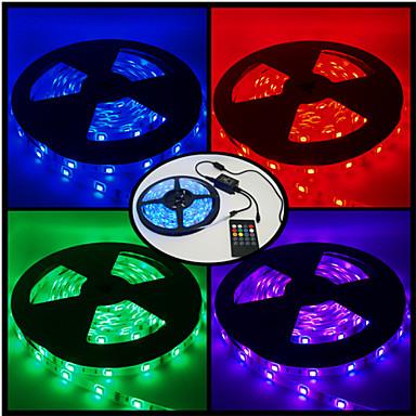 RGB-verlichtingsstrips 300 LEDs RGB Afstandsbediening Knipbaar Dimbaar Kleurveranderend Geschikt voor voertuigen DC 12V