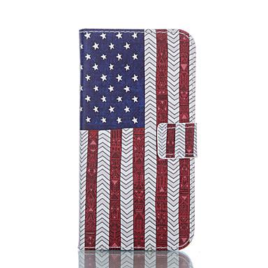 Capinha Para Samsung Galaxy Samsung Galaxy Capinhas Carteira Porta-Cartão Com Suporte Flip Corpo Inteiro Bandeira Couro Ecológico para S5