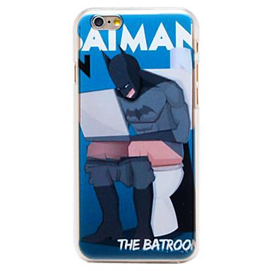 άνθρωπος μπάνιο μοτίβο διαφανή pc πίσω κάλυψη για το iphone 6 συν