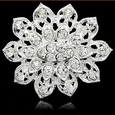 Kadın's Broşlar - İnci, Yapay Elmas Moda Broş Gümüş Uyumluluk Günlük