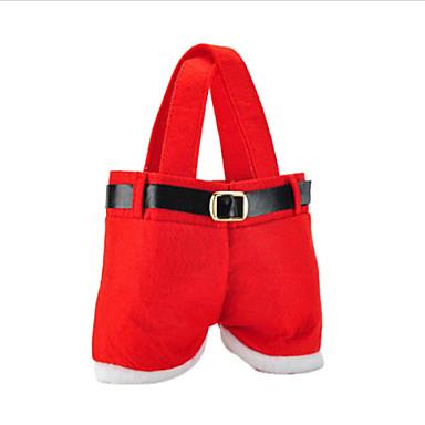 venda de moda quente christmas santa calças duende malas espírito doces xmas decoração saco bonito presente da criança pano macio vermelho