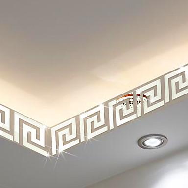 Σχήματα / 3D Αυτοκολλητα ΤΟΙΧΟΥ Αυτοκόλλητα Τοίχου Καθρέφτης , PS 10*10cm