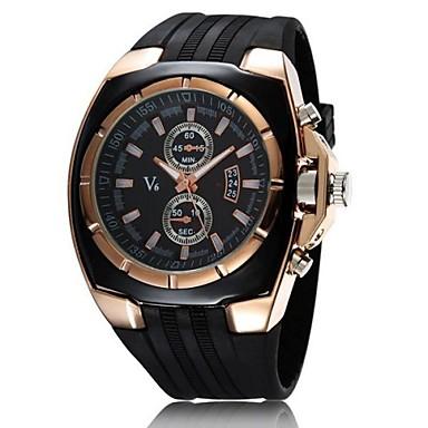 V6 Pánské Vojenské hodinky Náramkové hodinky Křemenný Japonské Quartz Pryž Černá Hodinky na běžné nošení Analogové Přívěšky - Bílá Černá Dva roky Životnost baterie / Mitsubishi LR626