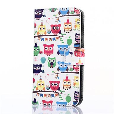Para Samsung Galaxy Capinhas Porta-Cartão / Carteira / Com Suporte / Flip / Estampada Capinha Corpo Inteiro Capinha Coruja Couro PU