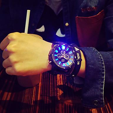 Homens Único Criativo relógio Relógio de Pulso Quartzo LED Silicone Banda Amuleto Preta