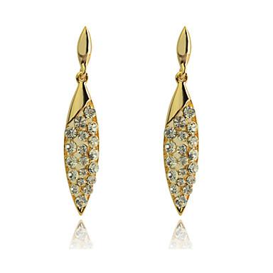 Druppel oorbellen Modieus Luxe Sieraden Kristal Verguld imitatie Diamond Gouden Sieraden Voor Feest Dagelijks Causaal 2 stuks