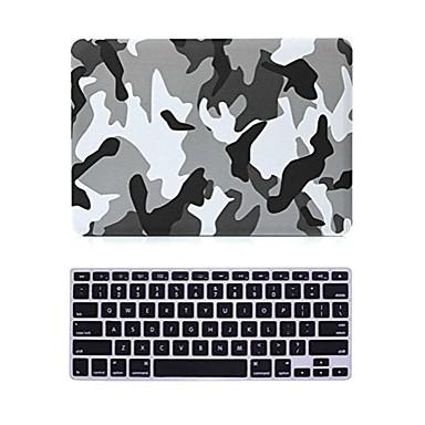2 in 1 mat oppervlak kristal met rubber harde geval dekking voor macbook pro 13