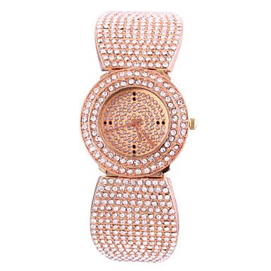 Dames Modieus horloge Pavé horloge Kwarts Chronograaf imitatie Diamond Legering Band Elegante horloges Goud Rose