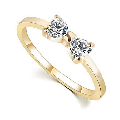 Dames Ringen voor stelletjes Birthstones Geboortestenen Legering Strikvorm Sieraden Bruiloft Feest Dagelijks