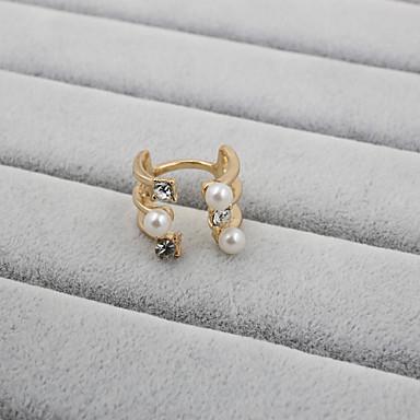 Dames Bandringen Luxe Verstelbaar Open Parel Strass Gesimuleerde diamant Legering Sieraden Bruiloft Feest Dagelijks Causaal Sport