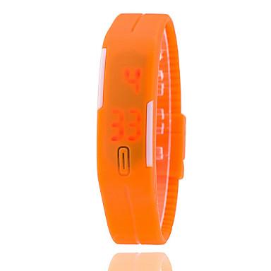 Dames Modieus horloge Digitaal horloge Digitaal Silicone Band Zwart Wit Blauw Orange Bruin Groen Roze roze