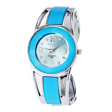 Kadın's Moda Saat Bilezik Saat Quartz Alaşım Bant Halhal Zarif Mavi