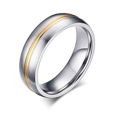 Heren Bandring Zilver Titanium Staal Modieus Feest Dagelijks Causaal Kostuum juwelen