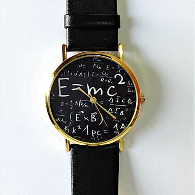 Dames Modieus horloge Kwarts Hot Sale PU Band Teksthorloge