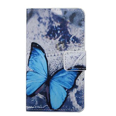 Capinha Para Wiko Capinhas Wiko Porta-Cartão Carteira Com Suporte Flip Estampada Capa Proteção Completa Borboleta Rígida PU Leather para