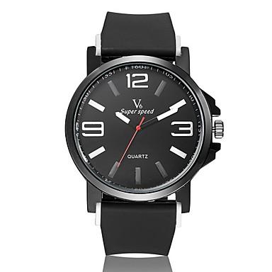 levne Pánské-V6 Pánské Náramkové hodinky Křemenný Pryž Černá Žhavá sleva Analogové Přívěšky Klasické - Žlutá Červená Modrá Dva roky Životnost baterie / Mitsubishi LR626