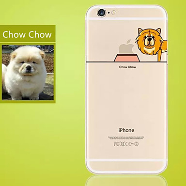 Voor iPhone 5 hoesje Ultradun / Transparant hoesje Achterkantje hoesje Spelen met Apple-logo Zacht TPU iPhone SE/5s/5
