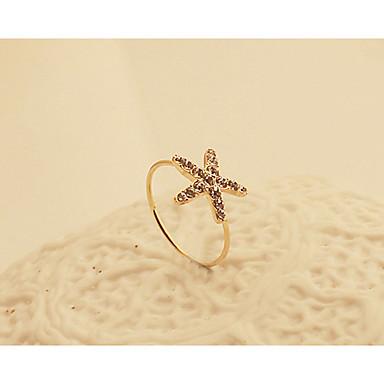 Feminino Maxi anel bijuterias Cristal Chapeado Dourado Jóias Para Festa Diário Casual